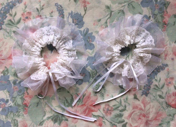 white lace sock toppers