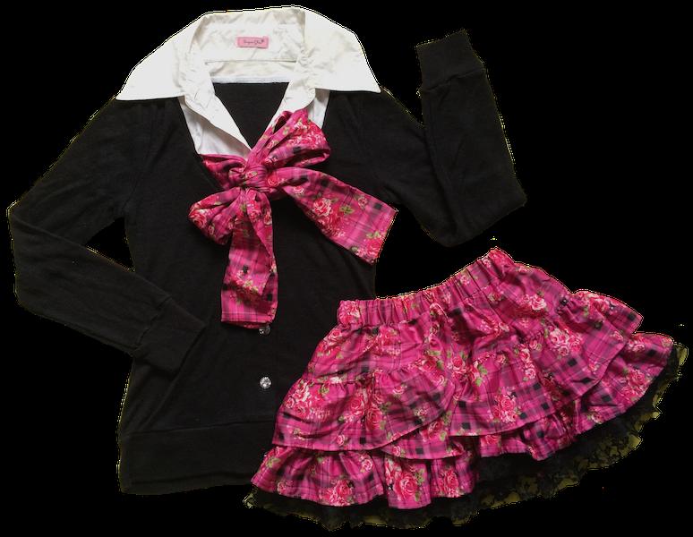 pink and black mars set