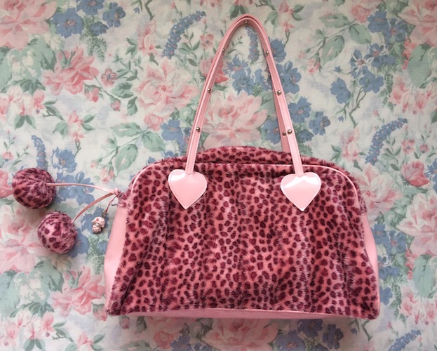 Milk pink leopard bag
