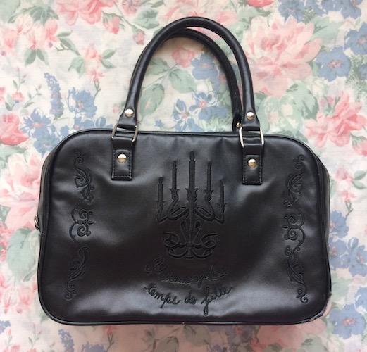 black candelabra bag