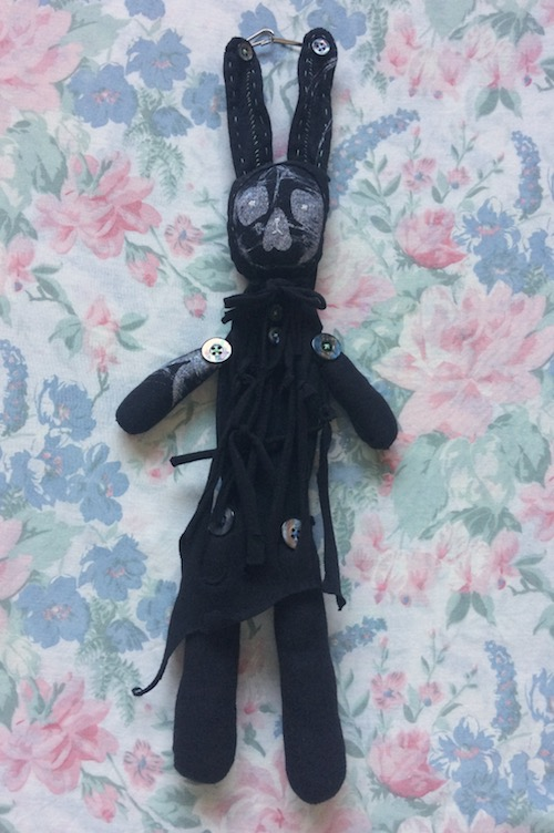 black rabbit pouch