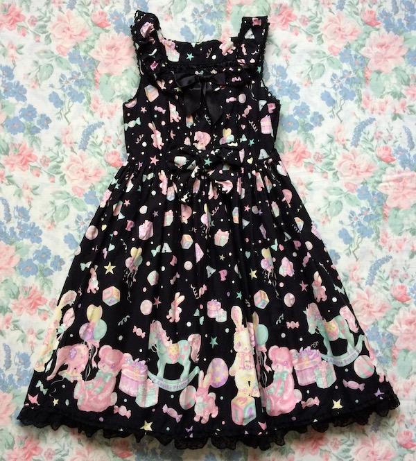black toy print dress