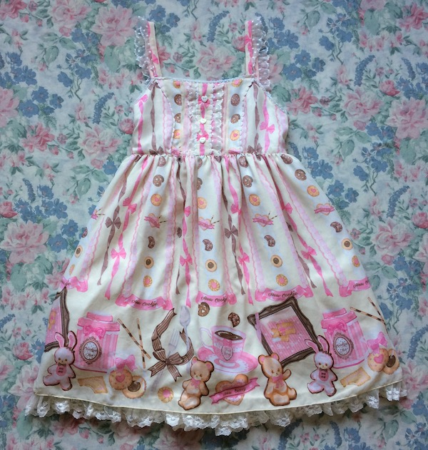 ivory and pink dress