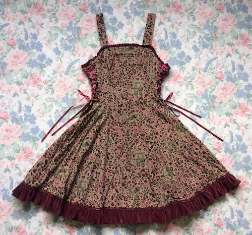 flower and doll print jsk