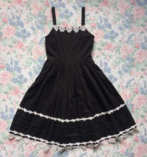 black and white heart lace dress