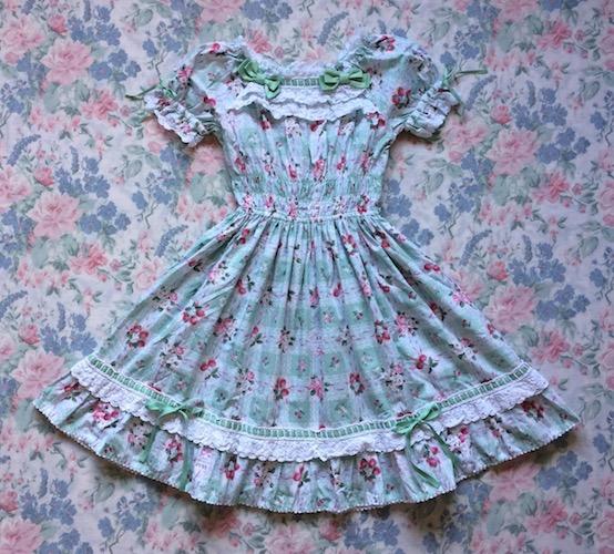 mint gingham dress