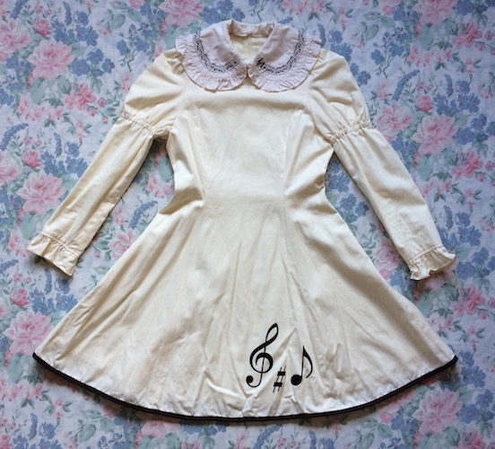 ivory music note dress