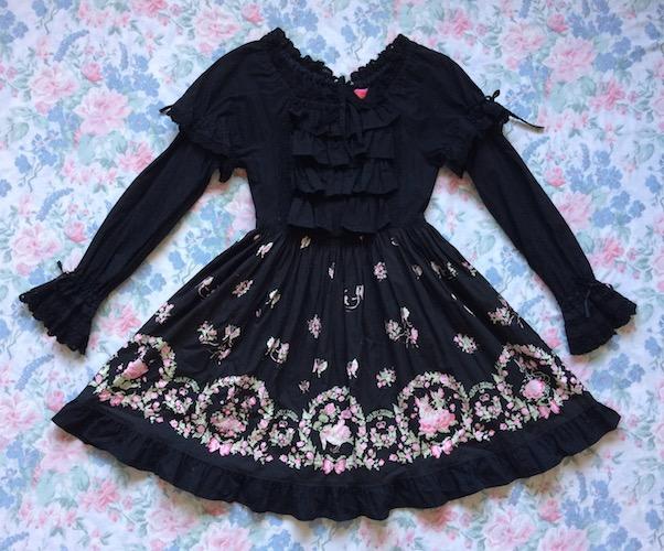 black thumbelina dress