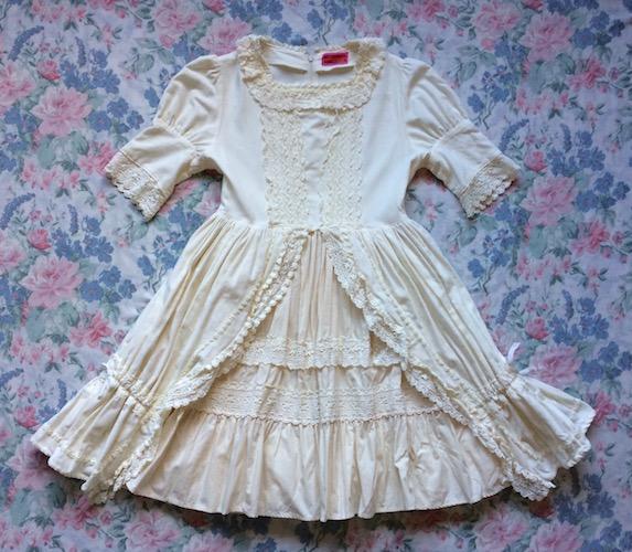 cream velvet dress