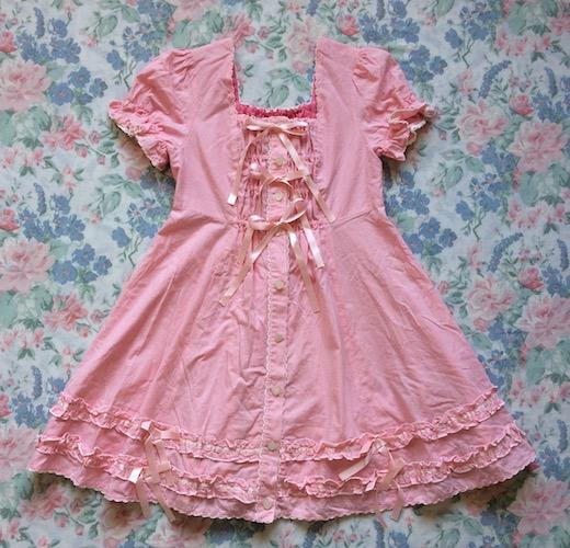 meta gingham ribbon dress