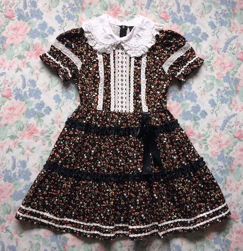 black strawberry print dress