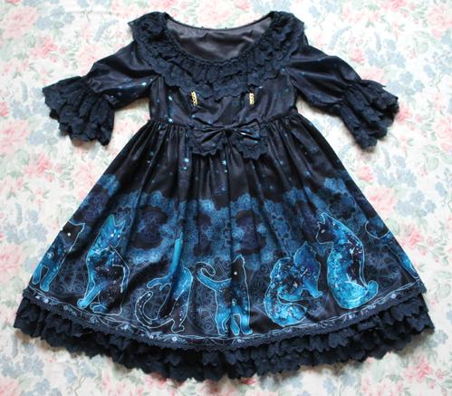 blue cats dress