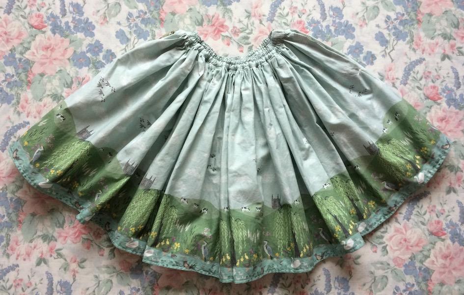 countryside print skirt