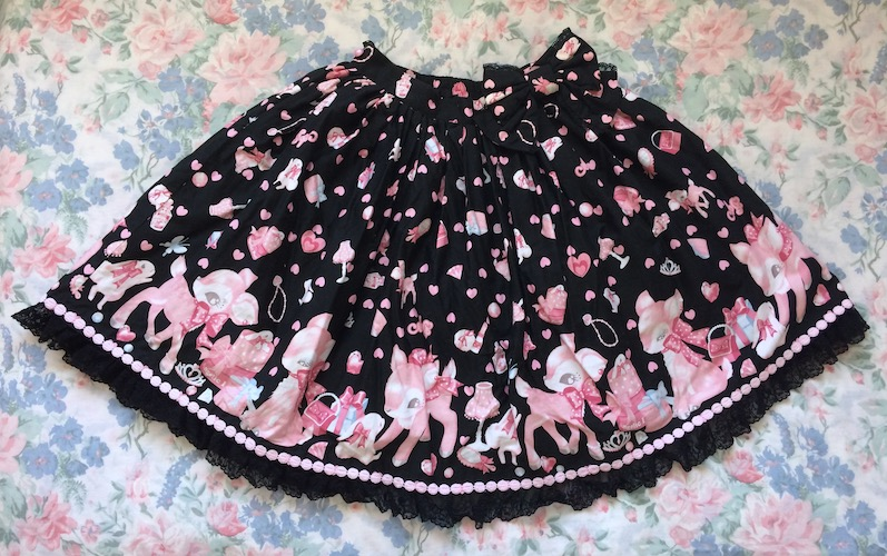 milky chan fawn skirt
