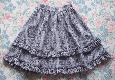 grey gingham skirt