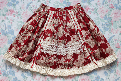 red fairy skirt