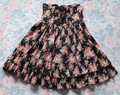 bodyline floral skirt