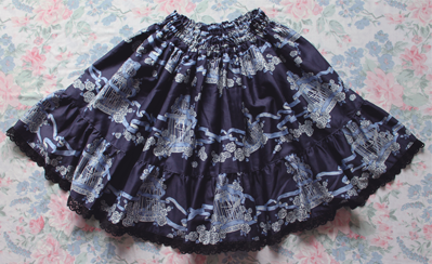 rose birdcage skirt