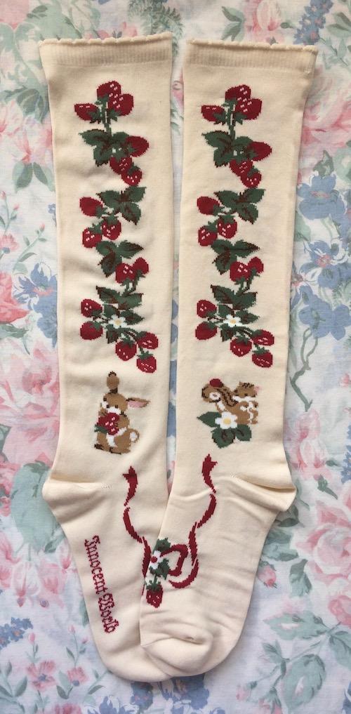 strawberry field socks