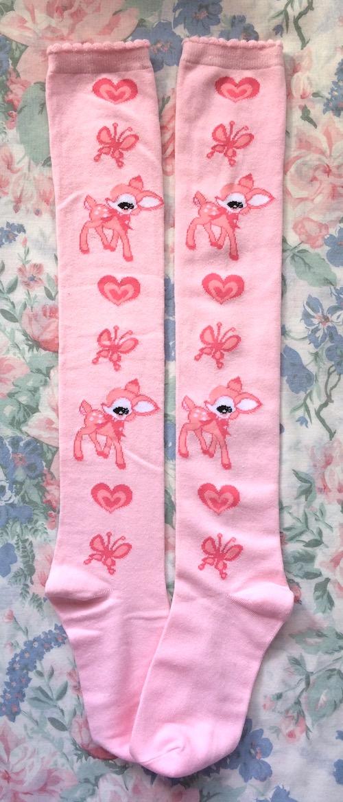 pink fawn socks