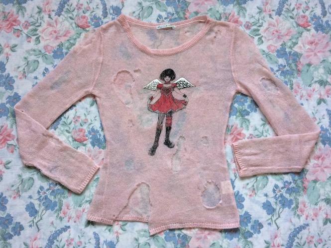 pink putumayo ripped knit