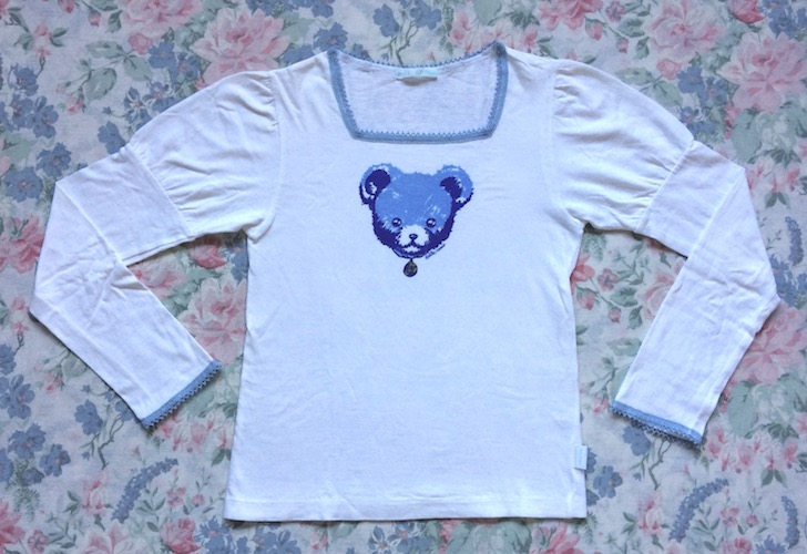 putumayo blue bear top