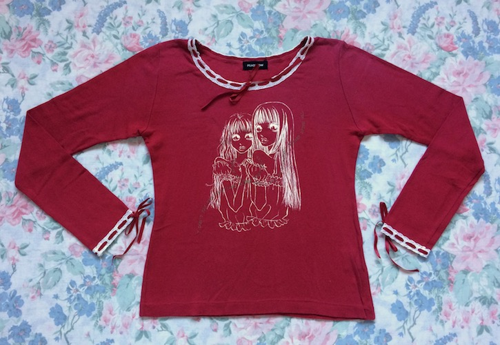 peace now red girls top
