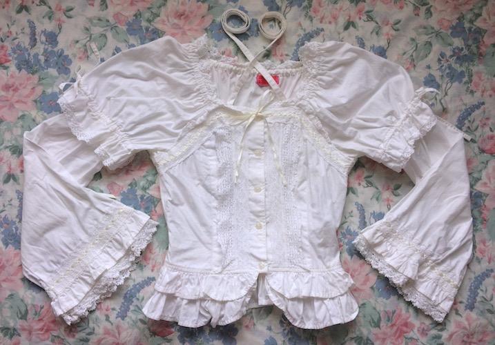 white princess blouse