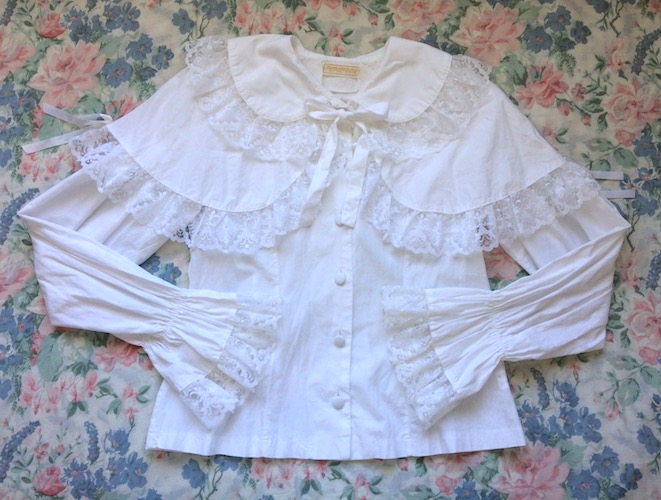 cross lace blouse and cape