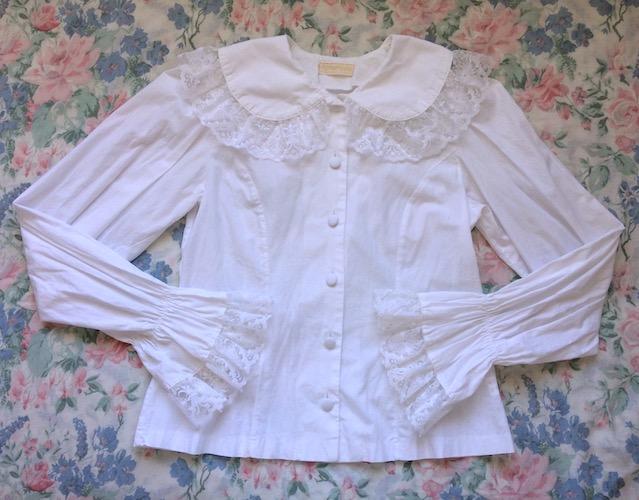 cross lace blouse