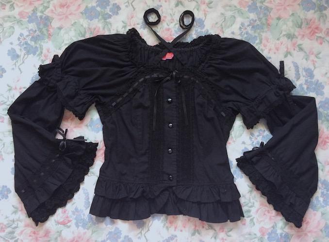 black princess blouse