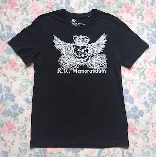 R R Memorandum logo print t shirt