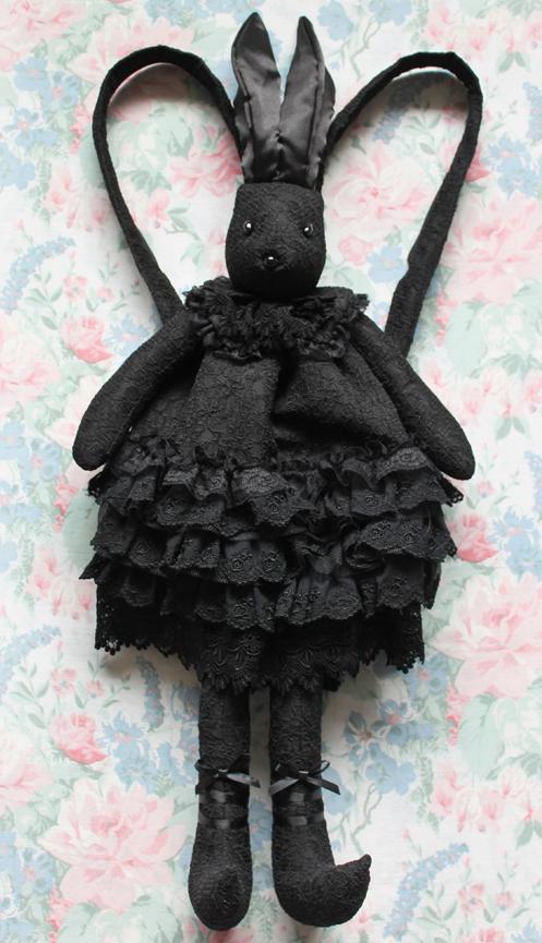 black bunny bag