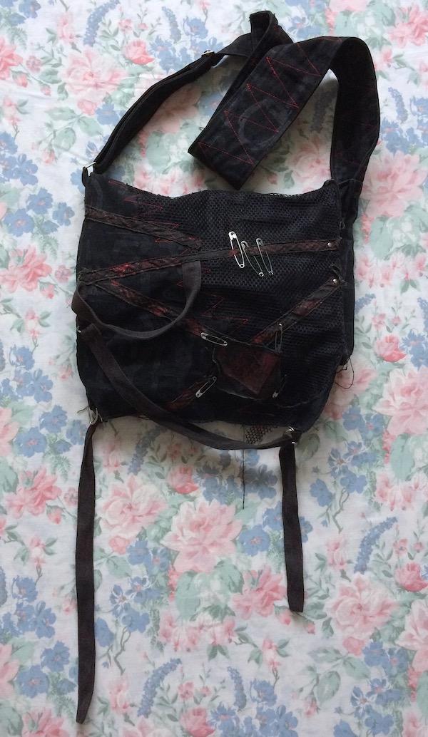 black punk bag