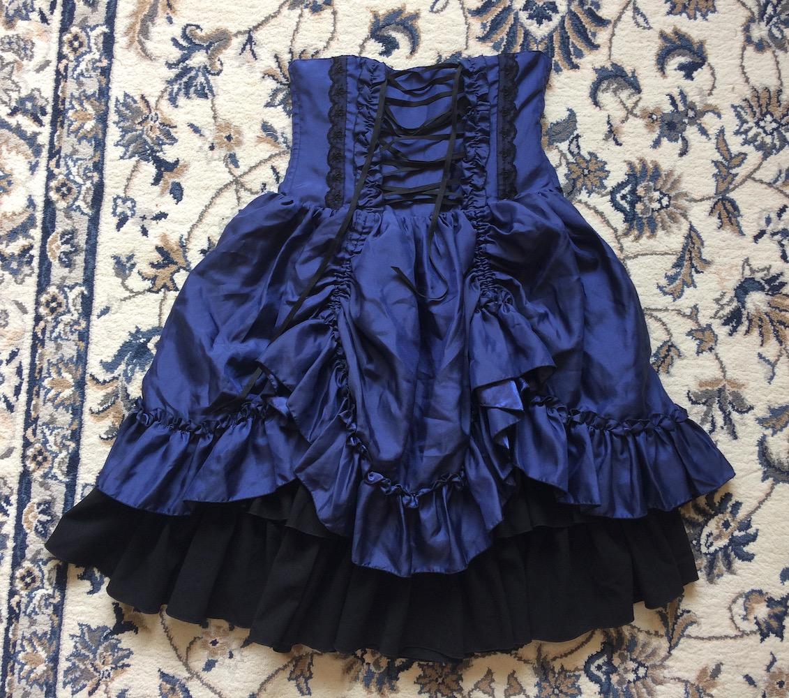 blue bustle skirt