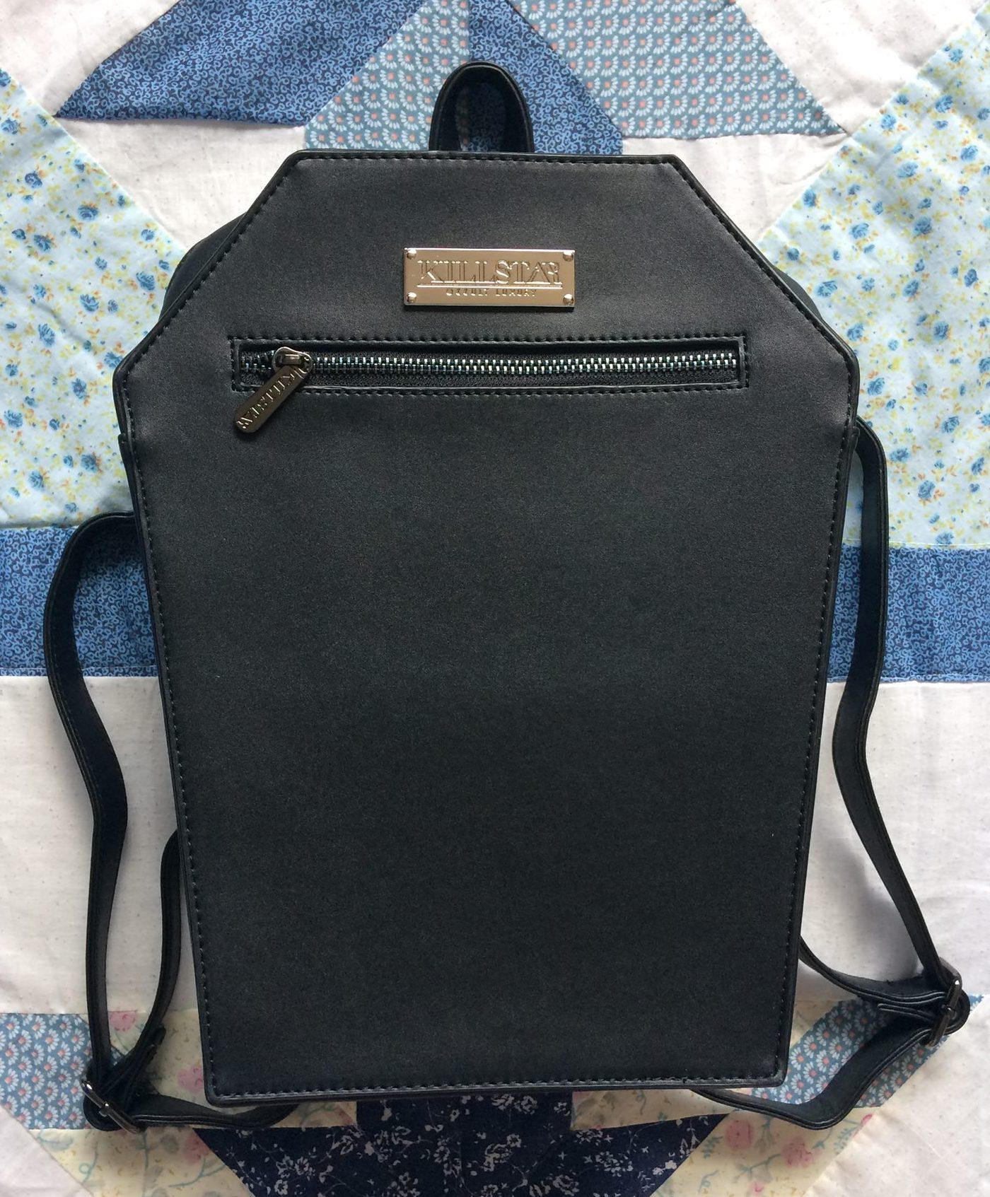 black coffin bag