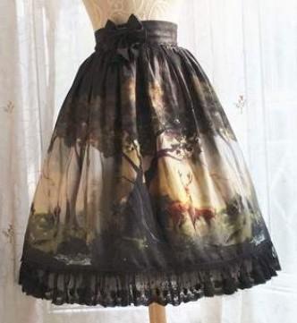 deer print skirt