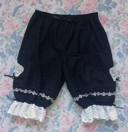 black and white bloomers