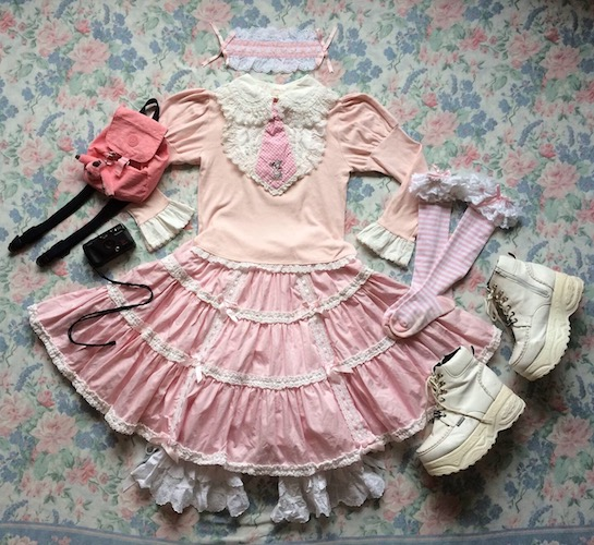 pink skirt coord