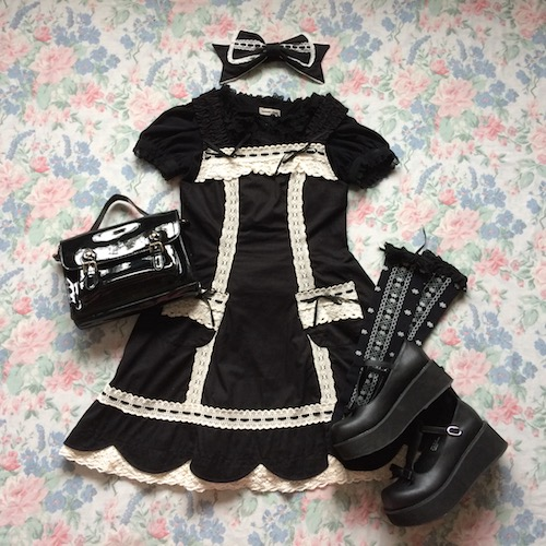 black and white coord