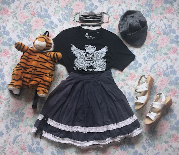 black and white skirt coord