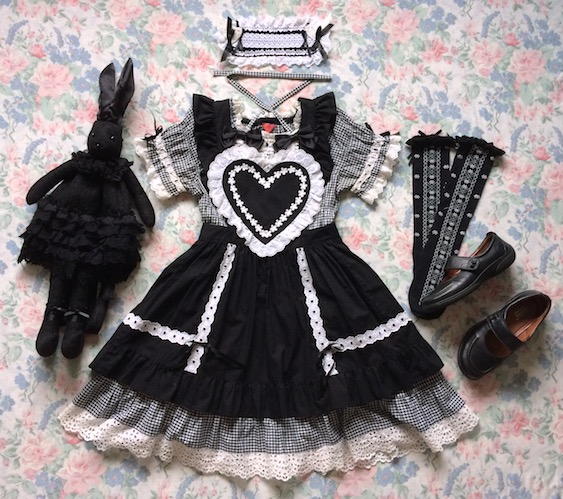 heart apron gingham coord