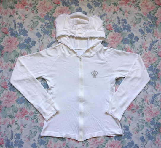 white bear ear hoodie