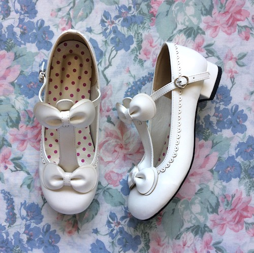 white t bar shoes