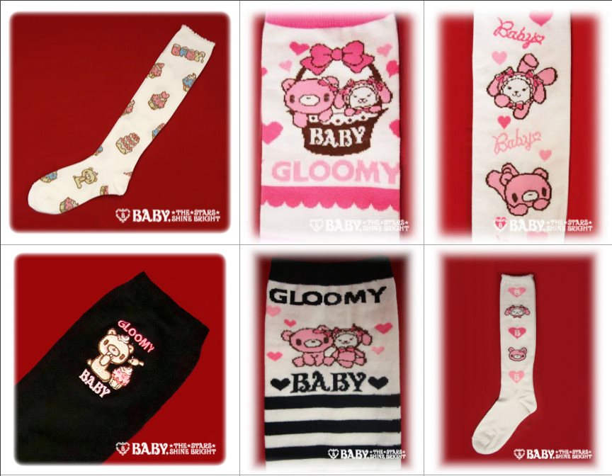 gloomy bear socks