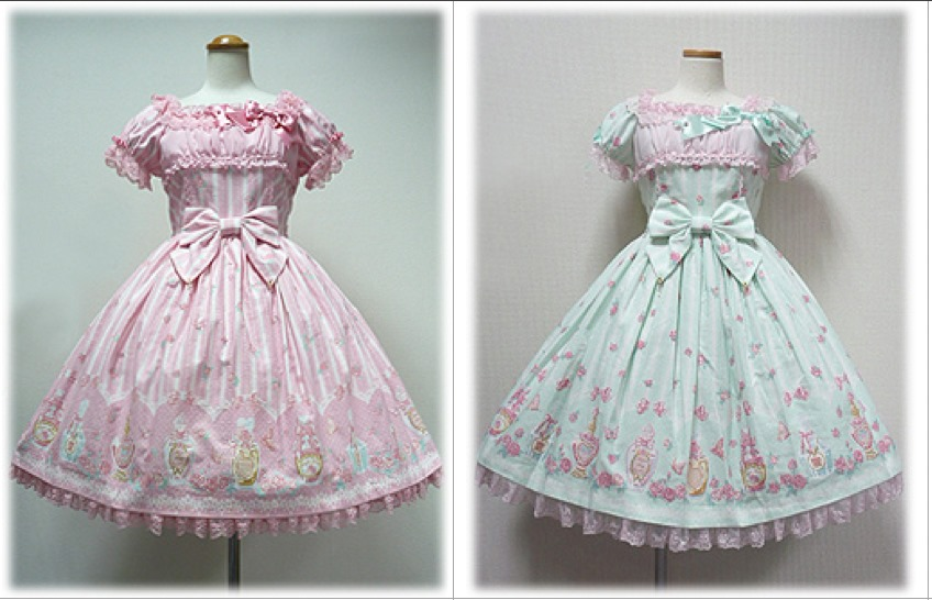 pink and mint dresses