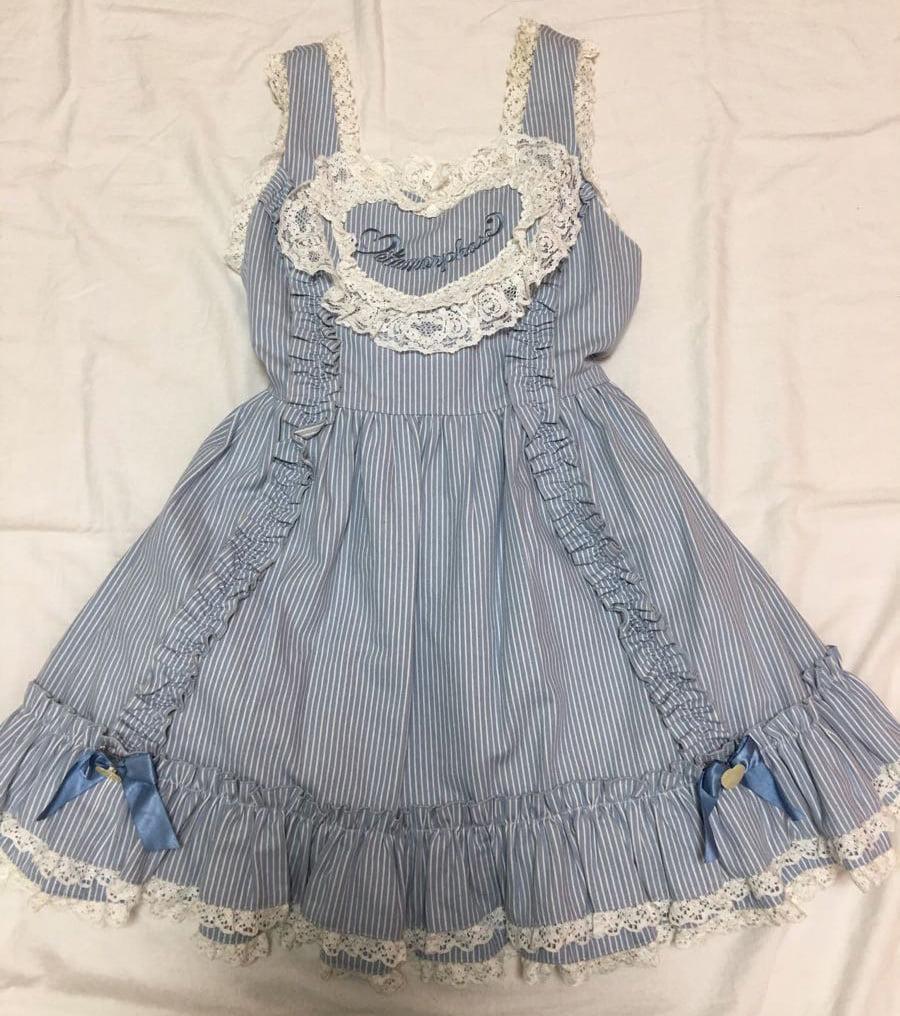 blue heart front dress