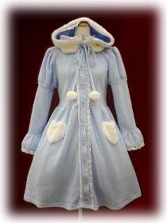 blue coat dress