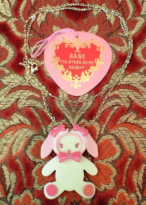 bunny bear necklace